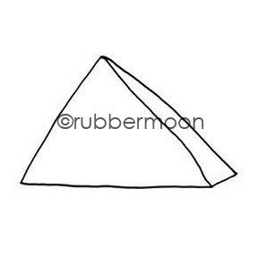 Kae Pea | KP5534F - Mark's Pyramid - Rubber Art Stamp