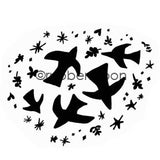 Kae Pea | KP5591G - Flock Together - Rubber Art Stamp