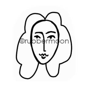 Kae Pea | KP5596D - Em Girl - Rubber Art Stamp
