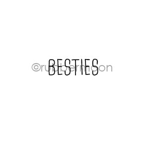 "Kae Pea | KP7113C - ""Besties"" - Rubber Art Stamp"
