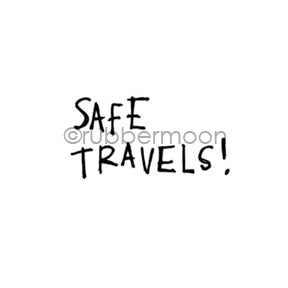 "Kae Pea | KP7136C - ""Safe Travels"" - Rubber Art Stamp"