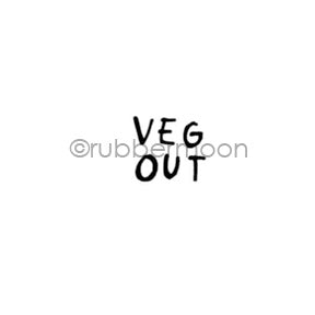 "Kae Pea | KP7141A - ""Veg Out"" - Rubber Art Stamp"