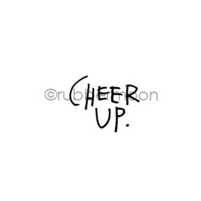 "Kae Pea | KP7147B - ""Cheer Up"" - Rubber Art Stamp"