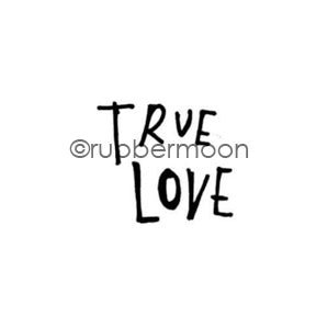 "Kae Pea | KP7152B - ""True Love"" - Rubber Art Stamp"