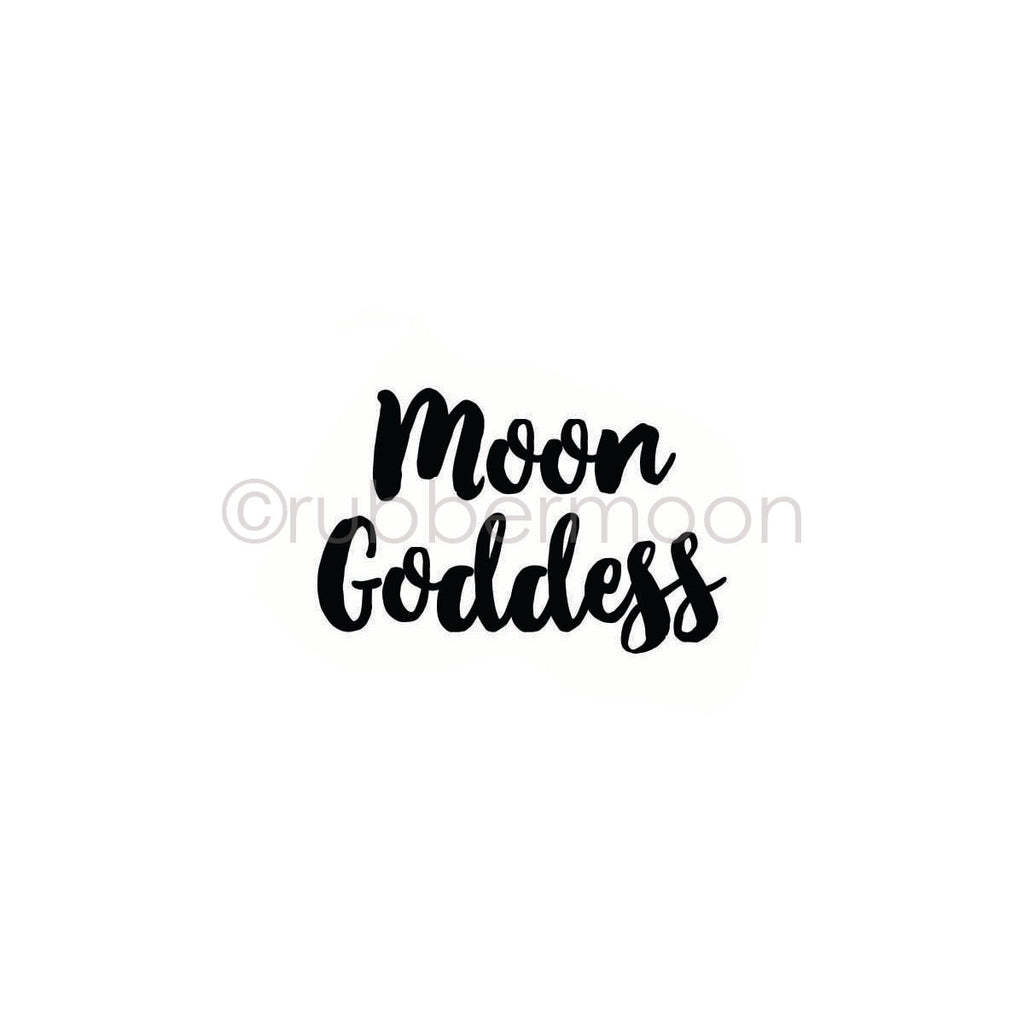 "Kae Pea | KP7205F - ""Moon Goddess"" - Rubber Art Stamp"