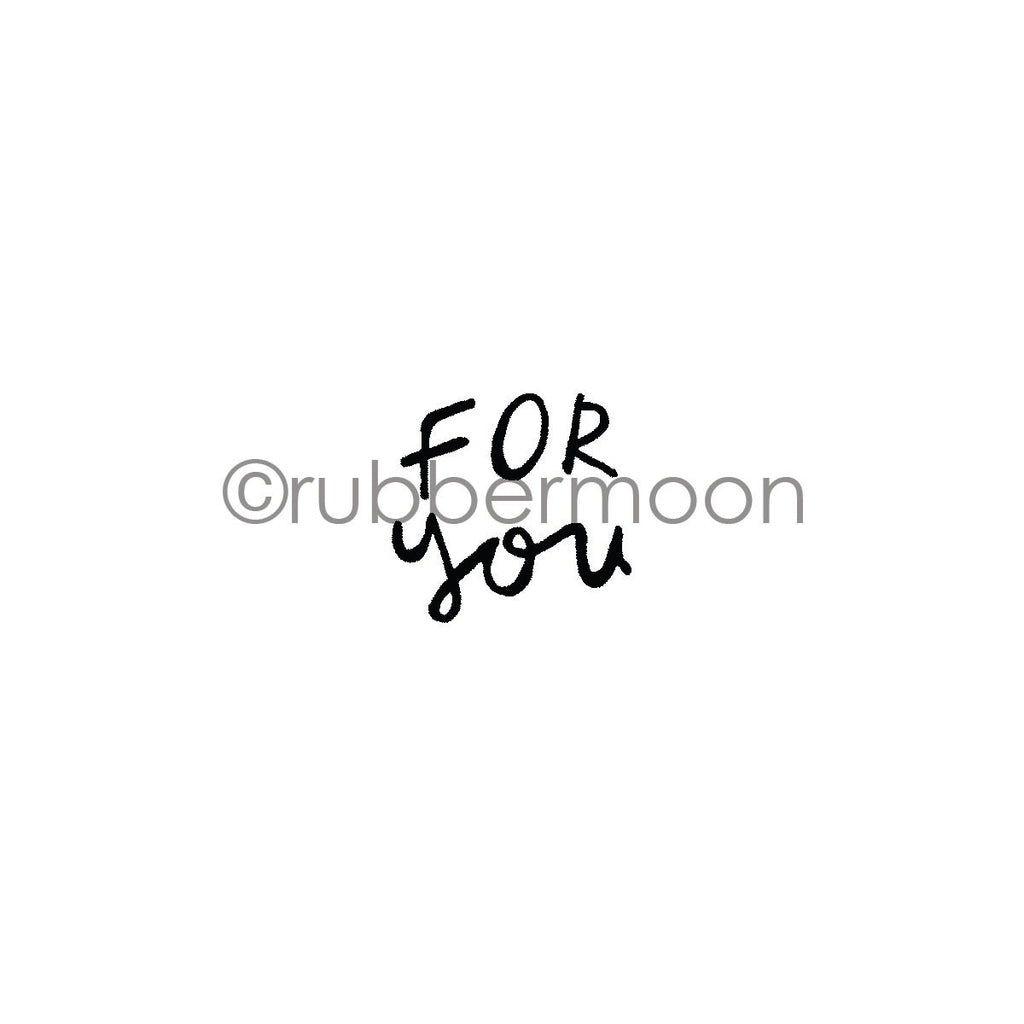 "Kae Pea | KP7272C - ""For You"" - Rubber Art Stamp"
