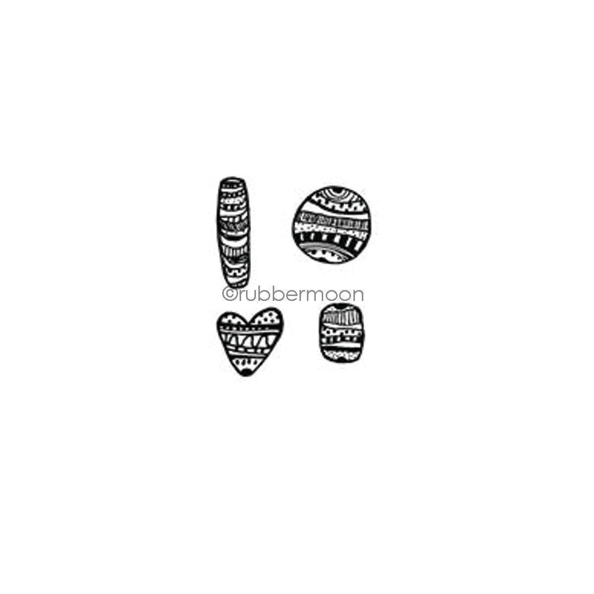 Kae Pea | KP7343G - Zen Beads Cube - Rubber Art Stamp