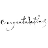 Congratulations - LF5338F - Rubber Art Stamp