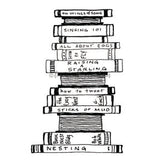 Lori Sparkly Franklin | LF7003I - Bird Brain Books - Rubber Art Stamp