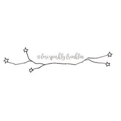 Lori Sparkly Franklin | LF7009H - Perch Upon A Star - Rubber Art Stamp