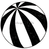Lori Sparkly Franklin | LF7030K - Beach Ball - Rubber Art Stamp