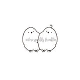 Lori Sparkly Franklin | LF7031C - Identical Tweets - Rubber Art Stamp