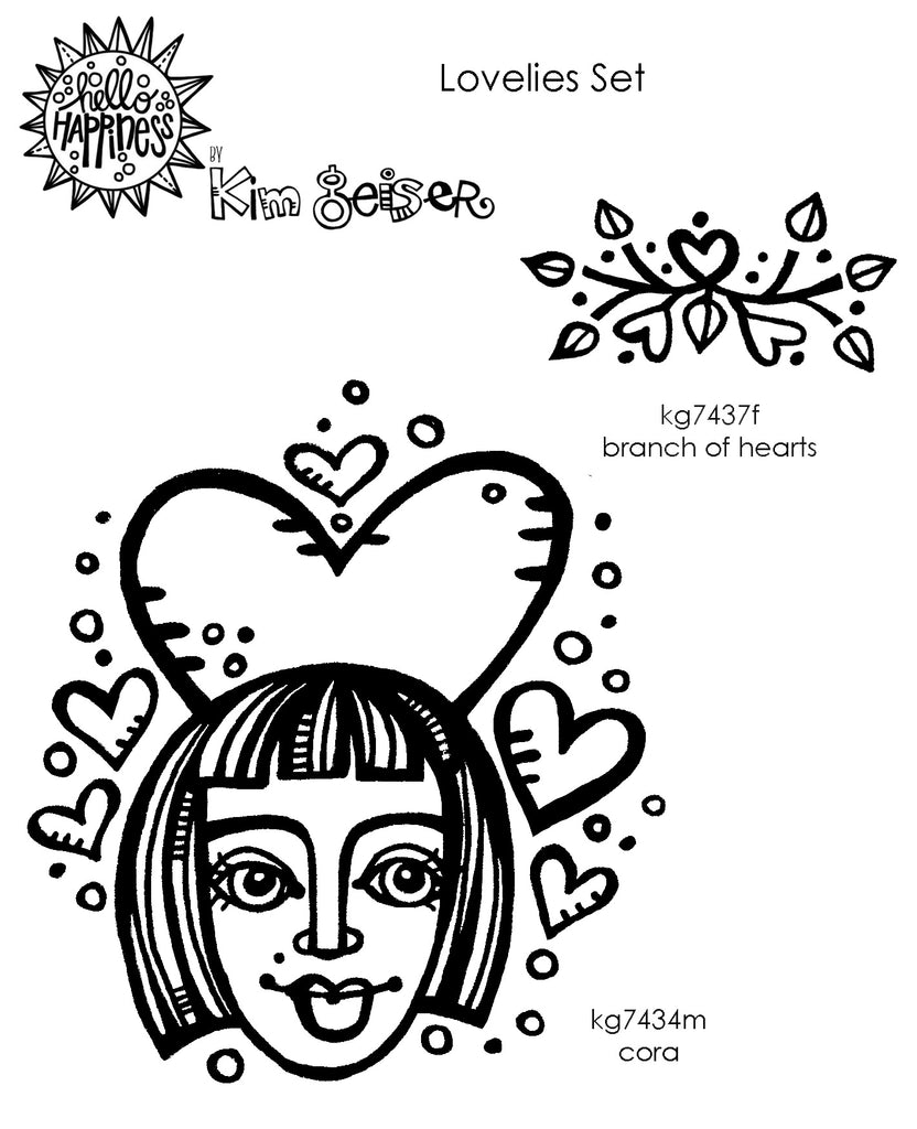 Kim Geiser | KGL02 - Lovelies Set - Rubber Art Stamps