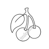 Mary Engelbreit | ME7673F - Mary's Cherries (Light) - Rubber Art Stamp
