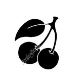 Mary Engelbreit | ME7674F - Mary's Cherries (Dark) - Rubber Art Stamp