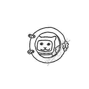 Mary Engelbreit | ME7680B - Space Kitty - Rubber Art Stamp