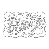 "Mary Engelbreit | ME7683G - ""Dreams"" - Rubber Art Stamp"