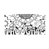 "Mary Engelbreit | ME7685G - ""Thoughts"" - Rubber Art Stamp"