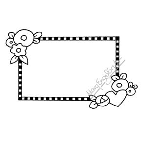 Mary Engelbreit | ME7686I - Mary's Frame - Rubber Art Stamp