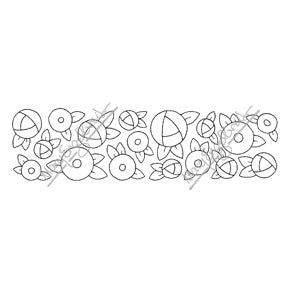 Mary Engelbreit | ME7690K - Cottage Rose Border - Rubber Art Stamp