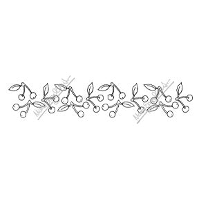 Mary Engelbreit | ME7692K - Mary's Cherries Border - Rubber Art Stamp