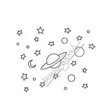 Mary Engelbreit | ME7695G - Mary's Starry Background - Rubber Art Stamp