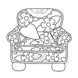 Mary Engelbreit | ME7697J - Cozy Chair - Rubber Art Stamp