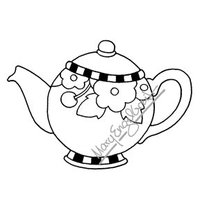 Mary Engelbreit | ME7698I - Mary's Teapot (Large) - Rubber Art Stamp
