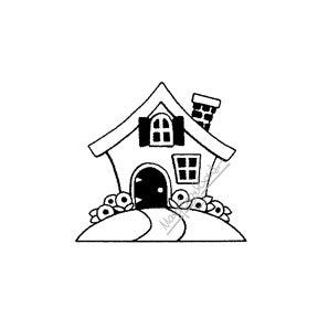 Mary Engelbreit | ME7703D - Classic Cottage (Small) - Rubber Art Stamp