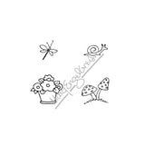 Mary Engelbreit | ME7718G - Mary's Garden Cube - Rubber Art Stamp