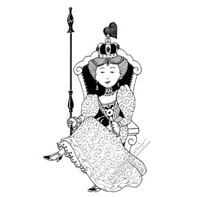 Mary Engelbreit | ME7730L - Powerful Queen - Rubber Art Stamp