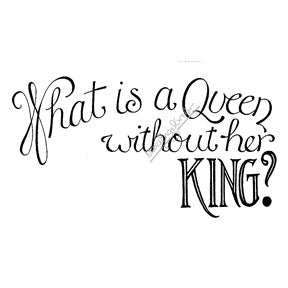 "Mary Engelbreit | ME7731H - ""What is a Queen?"" - Rubber Art Stamp"