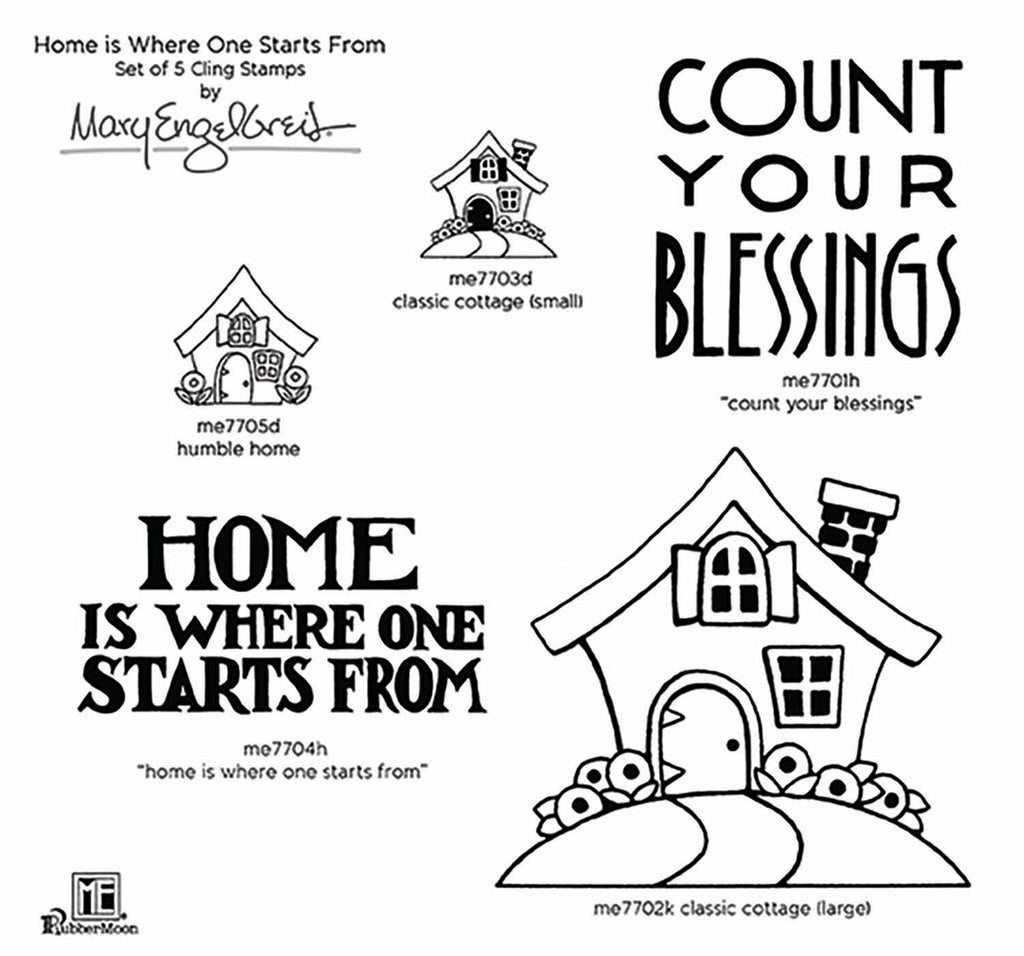 Mary Engelbreit | Home is Where One Starts From Stamp Set