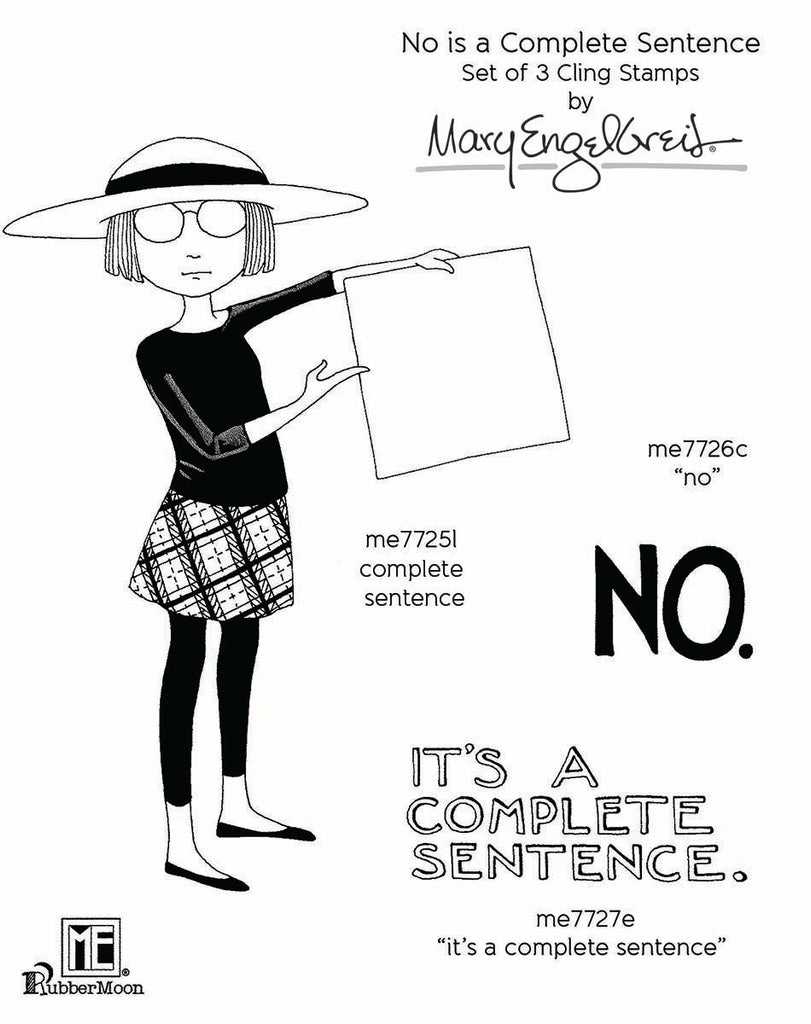 Mary Engelbreit | No is a Complete Sentence Stamp Set