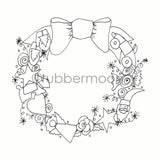 Marylinn Kelly | MK7207M - Marylinn's Magic Wreath - Rubber Art Stamp