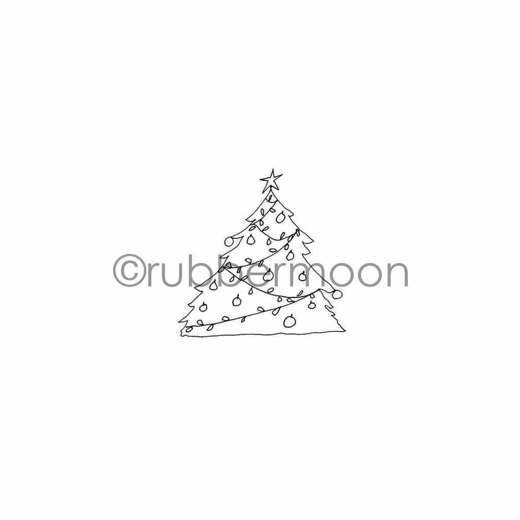 Marylinn Kelly | MK7211D - Merry Mini Tree - Rubber Art Stamp