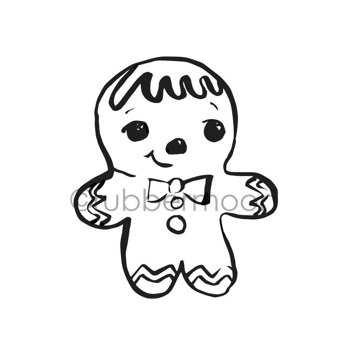 Mindy Lacefield | ML7251H - Ginger Dude - Rubber Art Stamp