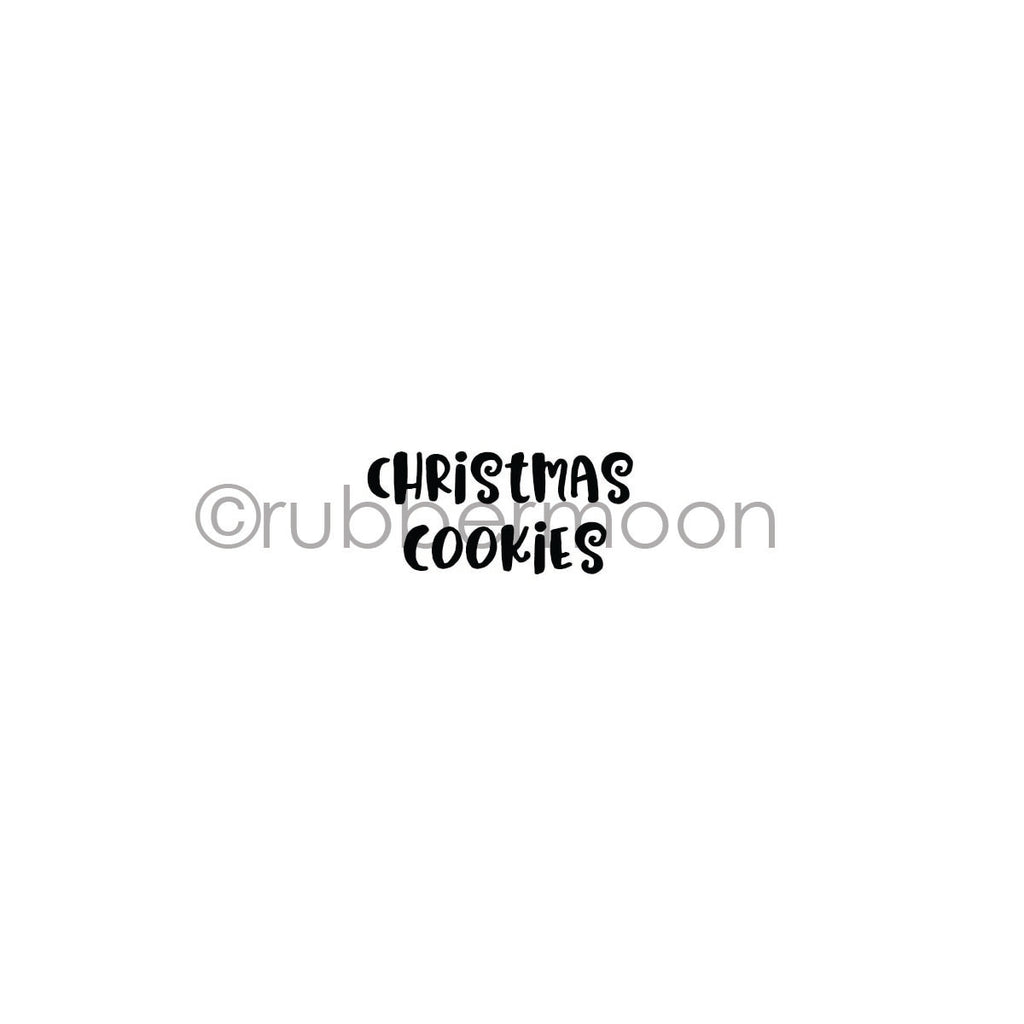 "Kae Pea | KP7252B - ""Christmas Cookies"" - Rubber Art Stamp"