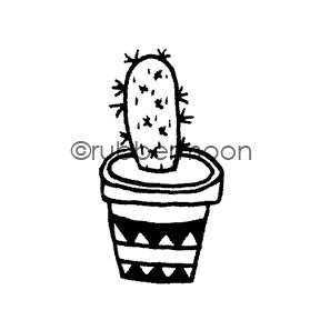 Maxi Moon | MM7089D - Prickly Pear - Rubber Art Stamp