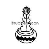 Maxi Moon | MM7091D - Spiny Succulent - Rubber Art Stamp