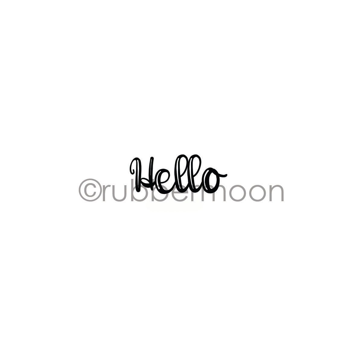 "Maxi Moon | MM7267B - ""Hello"" - Rubber Art Stamp"