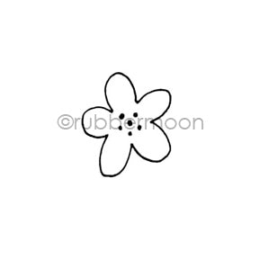 Maxi Moon | MM7165B - Simple Bloom - Rubber Art Stamp