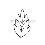 Maxi Moon | MM7181E - Leafy - Rubber Art Stamp