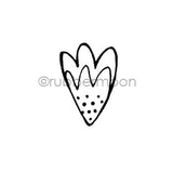 Maxi Moon | MM7190D - Whimsy Petal - Rubber Art Stamp