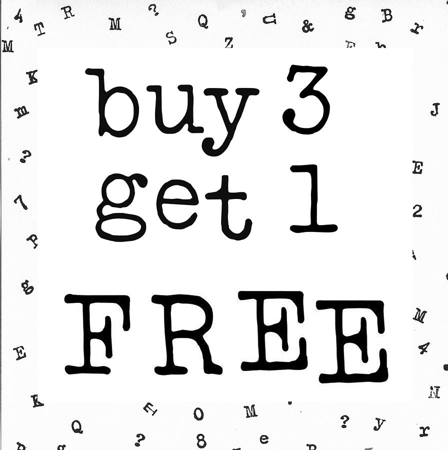 Buy 3 Get 1 Free - My Type XL Alphabet Letters