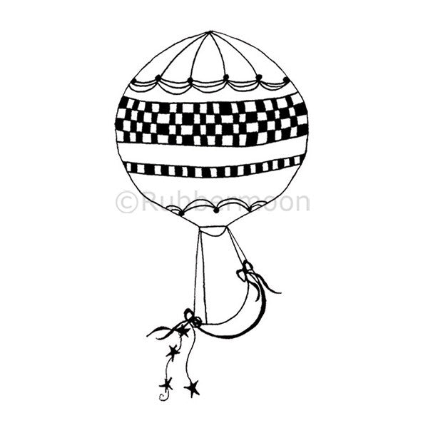 Moon Balloon - NC5280F - Rubber Art Stamp
