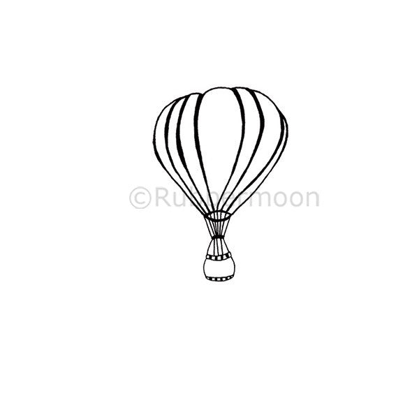 UP AND AWAY - NC5281E - RUBBER ART STAMP