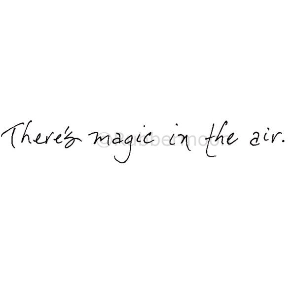 There's Magic in the Air - NC5282D - Rubber Art Stamp