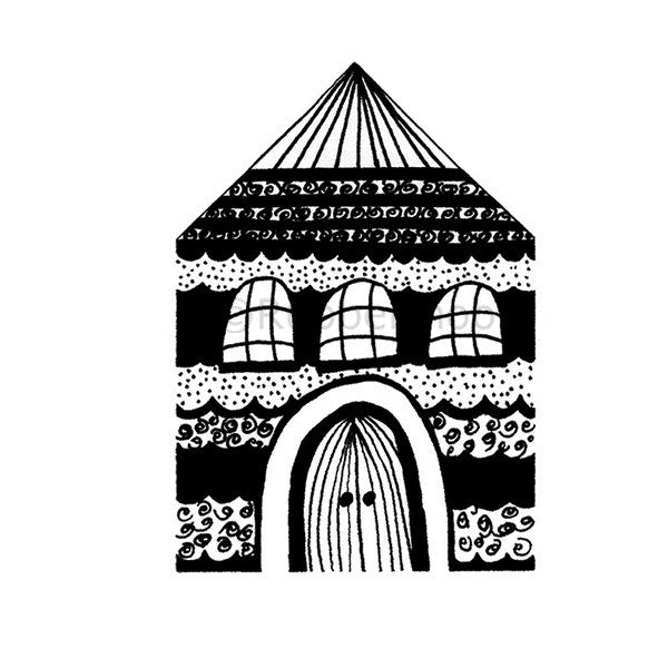 Doodle House - NC5284G - Rubber Art Stamp