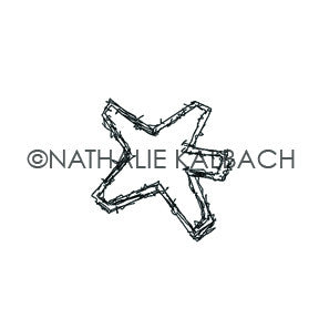 Star Tag - NK5580C - Rubber Art Stamp